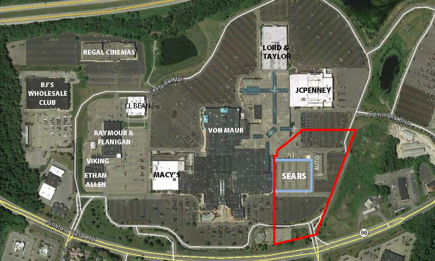 Eastview Mall Map At Eastview Mall | Seritage Eastview Mall Map